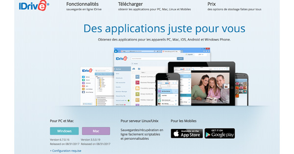 Applications IDrive