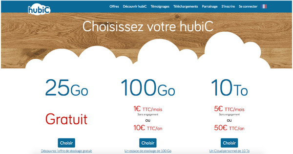 Hubic.fr stockage en ligne