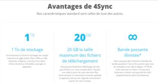 limite de taille sur 4Sync