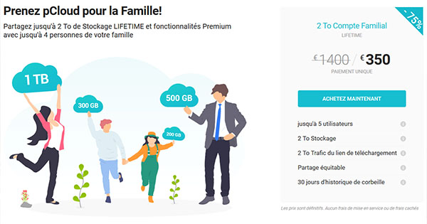 Promo pCloud Famille